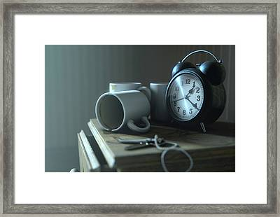 Bedside Table Insomnia Scene Framed Print by Allan Swart