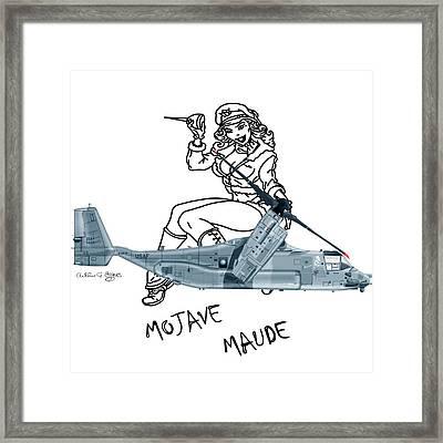Bell Boeing Cv-22b Osprey Mojave Maude Framed Print