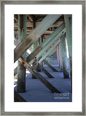 Beneath The Docks Framed Print by Jamie Lynn