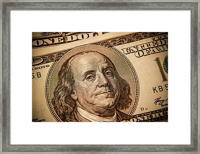 Framed Print featuring the photograph Benjamin Franklin by Les Cunliffe