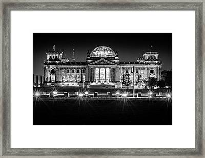 Berlin At Night - Reichstag Framed Print by Colin Utz