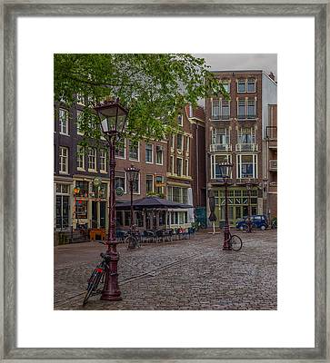 3 Bikes 3 Poles Framed Print by Capt Gerry Hare