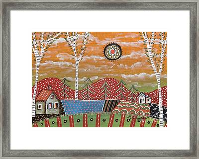 3 Birches Framed Print by Karla Gerard