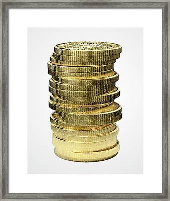 Bitcoin Stack Framed Print