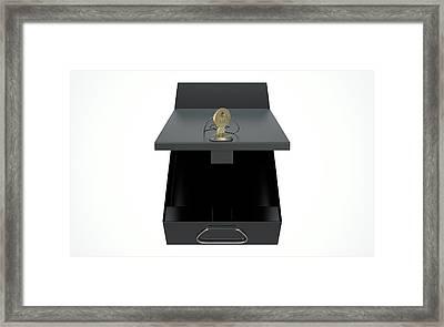 Black Safe Deposit Box Framed Print by Allan Swart