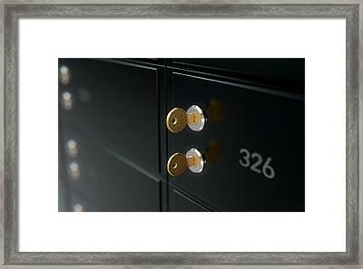 Black Safe Deposit Box Wall Framed Print by Allan Swart