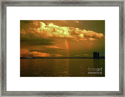 Framed Print featuring the photograph 3- Blue Heron Bridge by Rainbows