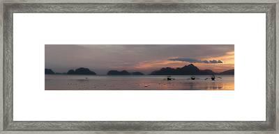 3 Boats Framed Print