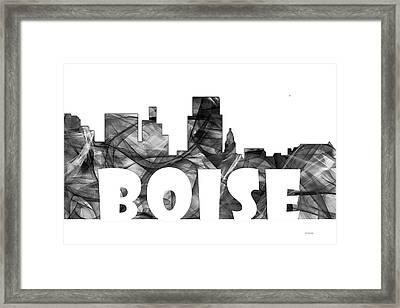 Boise Idaho Skyline Framed Print by Marlene Watson