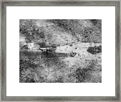 Bombing Vietnam Framed Print by Underwood Archives