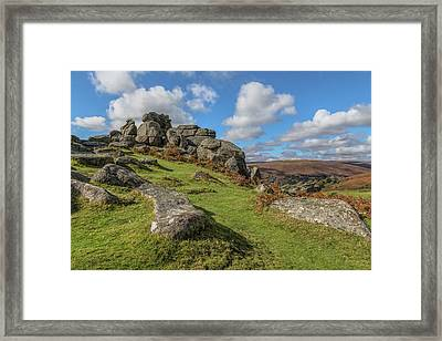 Bonehill Rocks - Dartmoor Framed Print