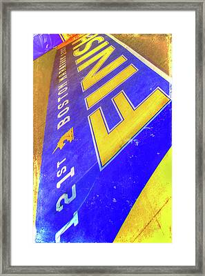 Framed Print featuring the photograph Boston Marathon Finish Line by Joann Vitali