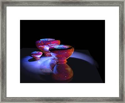 3 Bowls 1 Framed Print