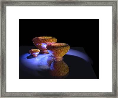 3 Bowls 2 Framed Print