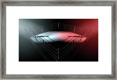 Boxing Ring Opposing Corners Framed Print by Allan Swart