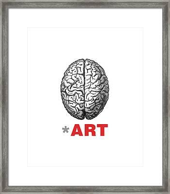 Brain Fart Framed Print by Craig McCausland