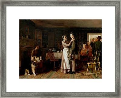 Breaking Home Ties Framed Print by Thomas Hovenden