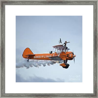 Breitling Wing Walker Framed Print