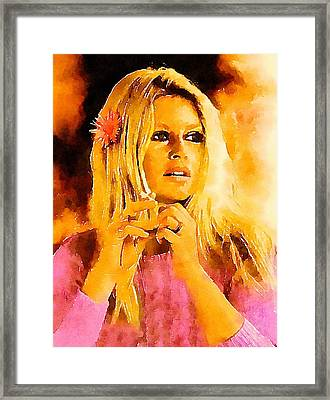 Brigitte Bardot Hollywood Icon By John Springfield Framed Print by John Springfield