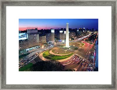 Framed Print featuring the photograph Buenos Aires Obelisk by Bernardo Galmarini
