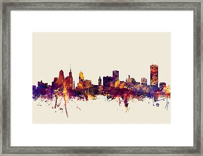 Buffalo New York Skyline Framed Print by Michael Tompsett