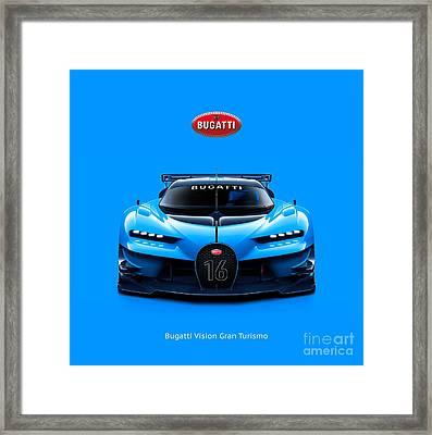Bugatti Vision Gran Turismo Framed Print by Mohamed Elkhamisy