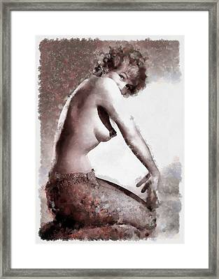 Burlesque Babe Framed Print by Esoterica Art Agency