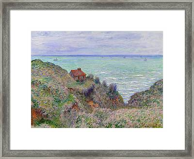 Cabin Of The Customs Watch Framed Print by Claude Monet