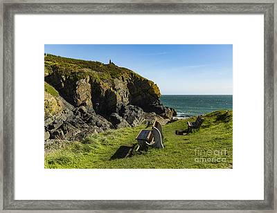 Framed Print featuring the photograph Cadgwith Cove by Brian Roscorla