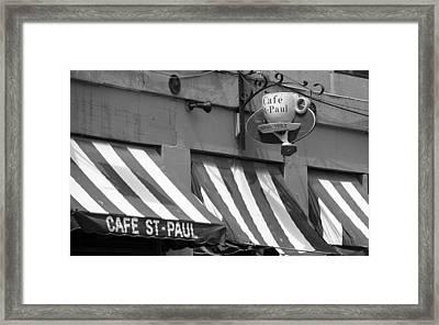 Cafe St. Paul - Montreal Framed Print
