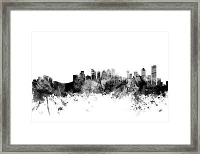Calgary Canada Skyline Framed Print