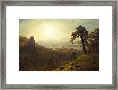 California Framed Print by Albert Bierstadt