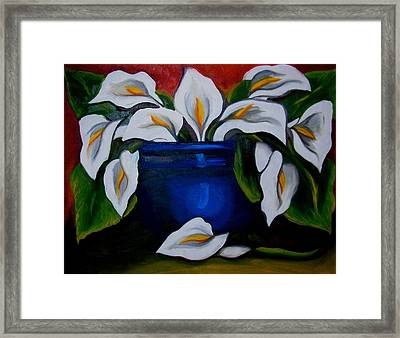 Calla Lilies Framed Print by Misty VanPool