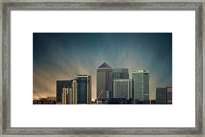 Canary Wharf Framed Print by Martin Newman