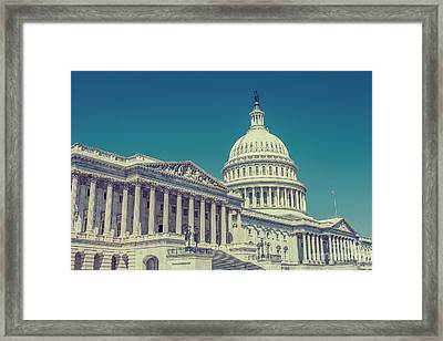 Capitol In Washington Framed Print by Patricia Hofmeester