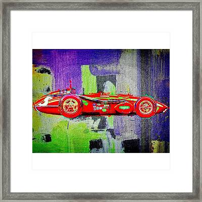#car #sportscar #racecar #nascar Framed Print by David Haskett