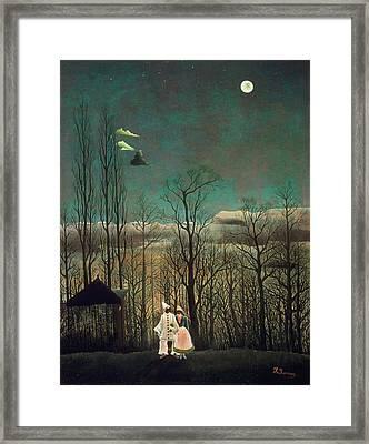Carnival Evening Framed Print by Henri Rousseau
