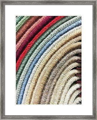 Carpet Colours Framed Print by Tom Gowanlock