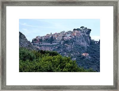 Castelmola - Sicily Framed Print by Joana Kruse