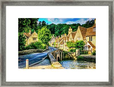 Castle Combe Village, Uk Framed Print