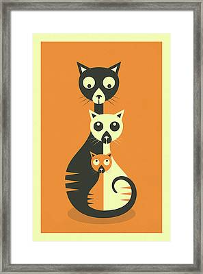 3 Cats Framed Print by Jazzberry Blue