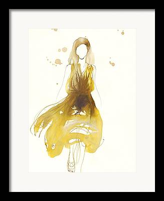 Golden Brown Drawings Framed Prints