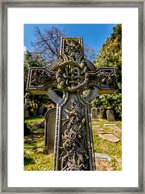 Celtic Cross Framed Print by Adrian Evans