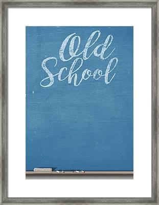 Chalk Board Split Framed Print