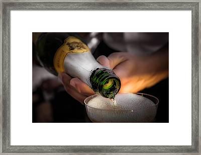 Champagne 4 Framed Print