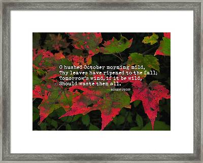 Changing Color Quote Framed Print by JAMART Photography