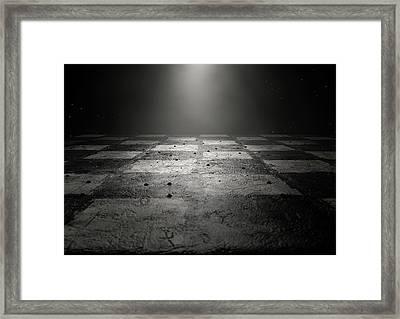 Chessboard Dark Framed Print by Allan Swart