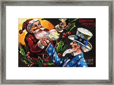 Christmas Card Framed Print by Granger