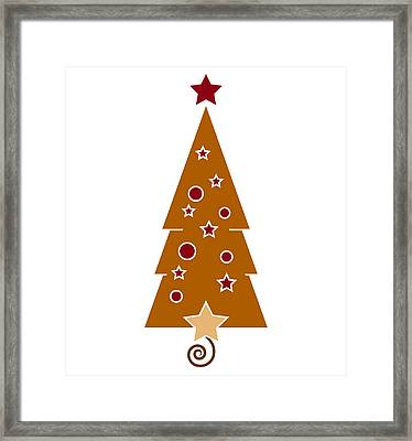 Christmas Tree Framed Print by Frank Tschakert