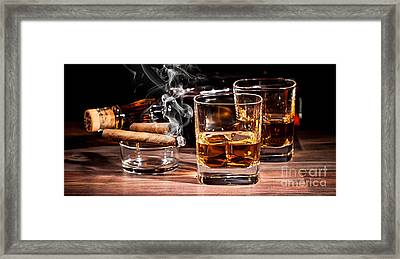 Cigar And Alcohol Collection Framed Print